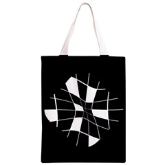 Black and white abstract flower Classic Light Tote Bag