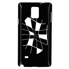 Black and white abstract flower Samsung Galaxy Note 4 Case (Black)