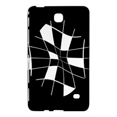 Black and white abstract flower Samsung Galaxy Tab 4 (8 ) Hardshell Case