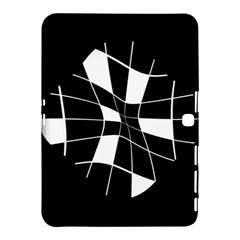 Black and white abstract flower Samsung Galaxy Tab 4 (10.1 ) Hardshell Case