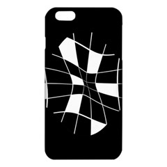 Black and white abstract flower iPhone 6 Plus/6S Plus TPU Case