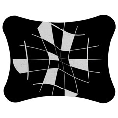 Black and white abstract flower Jigsaw Puzzle Photo Stand (Bow)