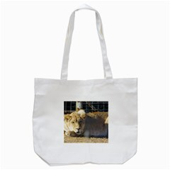 FeMale Lion Tote Bag (White)