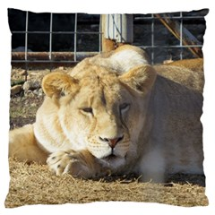 Female Lion Standard Flano Cushion Case (Two Sides)