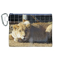FeMale Lion Canvas Cosmetic Bag (XL)