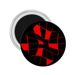 Red abstract flower 2.25  Magnets