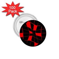 Red abstract flower 1.75  Buttons (100 pack)