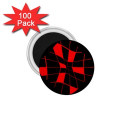 Red abstract flower 1.75  Magnets (100 pack)