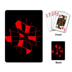 Red abstract flower Playing Card