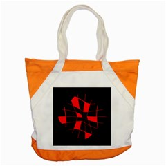 Red abstract flower Accent Tote Bag