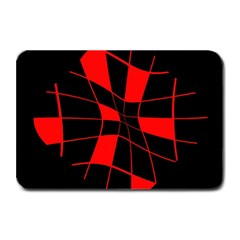 Red abstract flower Plate Mats