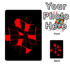 Red abstract flower Multi-purpose Cards (Rectangle)
