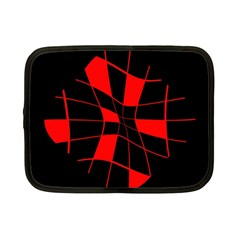 Red abstract flower Netbook Case (Small)