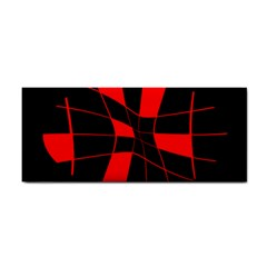 Red abstract flower Hand Towel
