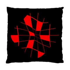 Red abstract flower Standard Cushion Case (One Side)
