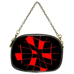 Red abstract flower Chain Purses (Two Sides)
