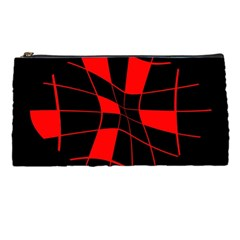 Red abstract flower Pencil Cases