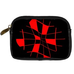 Red abstract flower Digital Camera Cases
