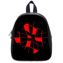 Red abstract flower School Bags (Small)