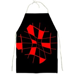 Red abstract flower Full Print Aprons