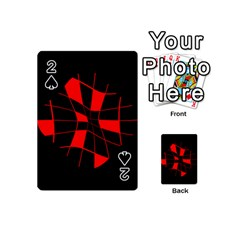 Red abstract flower Playing Cards 54 (Mini)