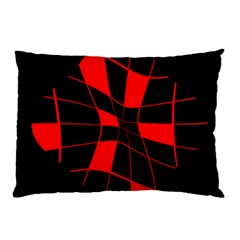 Red abstract flower Pillow Case (Two Sides)