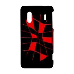 Red abstract flower HTC Evo Design 4G/ Hero S Hardshell Case