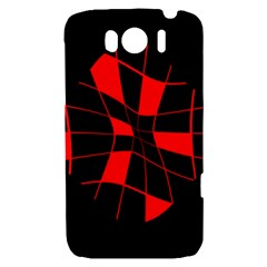 Red abstract flower HTC Sensation XL Hardshell Case