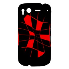 Red abstract flower HTC Desire S Hardshell Case