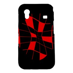 Red abstract flower Samsung Galaxy Ace S5830 Hardshell Case