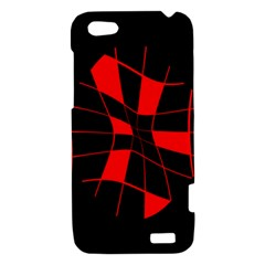 Red abstract flower HTC One V Hardshell Case