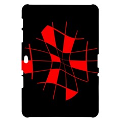 Red abstract flower Samsung Galaxy Tab 10.1  P7500 Hardshell Case