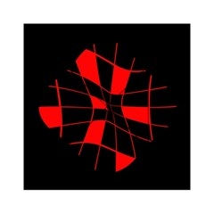 Red abstract flower Acrylic Tangram Puzzle (6  x 6 )
