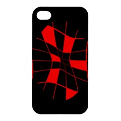 Red abstract flower Apple iPhone 4/4S Premium Hardshell Case