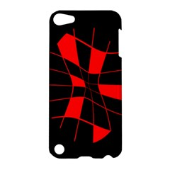 Red abstract flower Apple iPod Touch 5 Hardshell Case