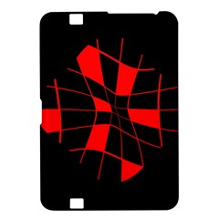 Red abstract flower Kindle Fire HD 8.9