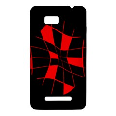 Red abstract flower HTC One SU T528W Hardshell Case