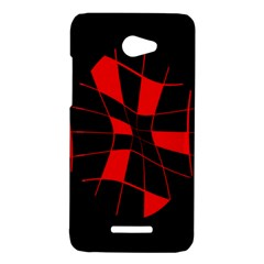 Red abstract flower HTC Butterfly X920E Hardshell Case