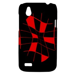 Red abstract flower HTC Desire V (T328W) Hardshell Case