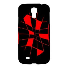 Red abstract flower Samsung Galaxy S4 I9500/I9505 Hardshell Case