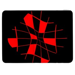 Red abstract flower Samsung Galaxy Tab 7  P1000 Flip Case