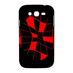 Red abstract flower Samsung Galaxy Grand DUOS I9082 Hardshell Case