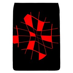 Red abstract flower Flap Covers (S)