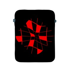 Red abstract flower Apple iPad 2/3/4 Protective Soft Cases
