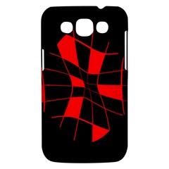 Red abstract flower Samsung Galaxy Win I8550 Hardshell Case