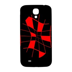 Red abstract flower Samsung Galaxy S4 I9500/I9505  Hardshell Back Case