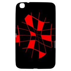 Red abstract flower Samsung Galaxy Tab 3 (8 ) T3100 Hardshell Case