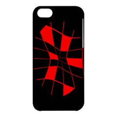 Red abstract flower Apple iPhone 5C Hardshell Case