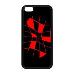Red abstract flower Apple iPhone 5C Seamless Case (Black)