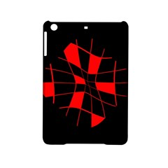 Red abstract flower iPad Mini 2 Hardshell Cases